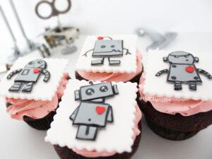 cute robot cupcakes