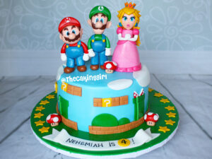cutest super mario luigi princess peach cake toppers figurine