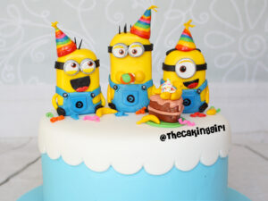 Cutest despicable me minion birthday cake