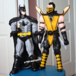 batman gumpaste figurine cake