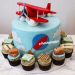 airplane theme fondant birthday cake
