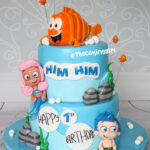 bubble guppies birthday cake fondant