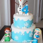 frozen baby elsa anna olaf cake