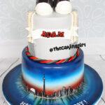 toronto theme birthday cake fondant