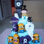 despicable me minion agnes purple minions fondant figurines
