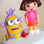 dora and boots fondant figurine birthday cake
