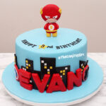 flash fondant birthday cake