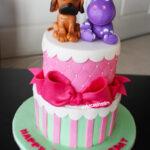 cute girly hippo dog cake