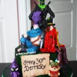 league of legends fondant cake, yasuo figurine, teemo figurine, twisted fate figurine cake