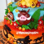 lion king disney simba fondant cake 2 tiers