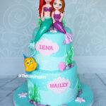 the little mermaid ariel and sophia birthday cake