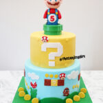 mario super fondant birthday cake