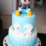 mickey mouse birthday kids cake