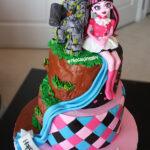 monster high skylander split theme cake