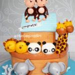 noah's arc bbay shower cake