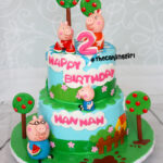 best peppa pig and family birthday cake