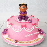 cute girly princess pink cake