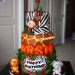 best safari theme first birthday cake