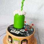 science ancient egypt hieroglyphs birthday cake