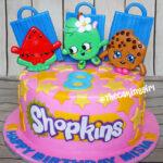 cute pink shopkins birthday cake