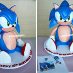 sonic the hedgehog 3D sclupted cake