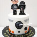 star wars fondant birthday cake for kids