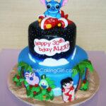 disney lilo and stitch figruines cake topper birthday cake