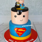 superman batman 100 days cake