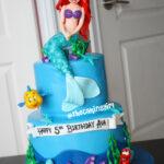 best the little mermaid ariel cake