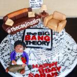 the big bang theory birthday cake Raj Koothrappali cake