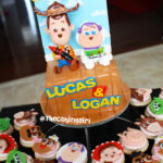 cute baby toy story buzz lightyear and woody cake