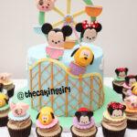 tsumtsum fondant birthday cake