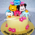 tsum tsum minnie mouse stitch pooh donald duck cake