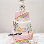 4 tier birthday cake unicorn fondant