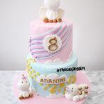 unicorn birthday fondant cake