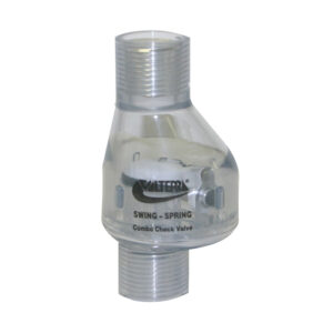 "1/2"" Swing/Spring Check Valve FPT x FPT 1/2 lb Tension"