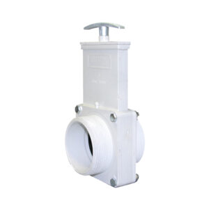 "3"" Valve MPT x MPT, w/ SS Paddle & Metal Handle, PVC White"