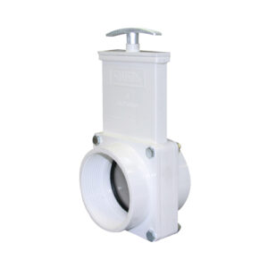 "3"" Valve FPT x FPT, w/ SS Paddle & Metal Handle, PVC White"