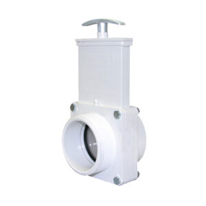 "3"" Valve FPT x MPT, w/ SS Paddle & Metal Handle, PVC White"