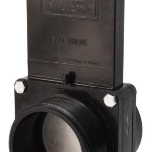 "3"" Valve MPT x Spigot, w/ SS Paddle & Metal Handle, ABS Black"