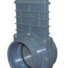 "4"" Valve Slip x Slip, w/ SS Paddle & Metal Handle, PVC Gray"