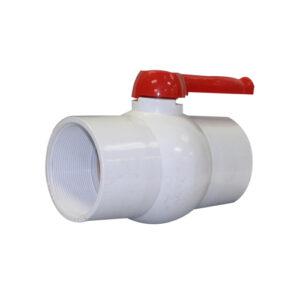 "4"" Ball Valve FPT x FPT Single Handle PVC White"