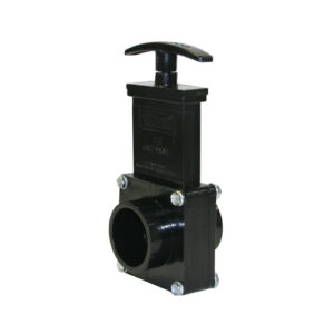 "Valterra Gate Valve Part # 7103-1-1/2"" Valve Spigot x Spigot, w/ Plastic Paddle & Handle, ABS Black"