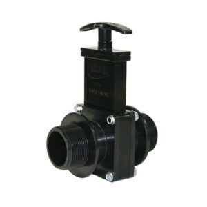 "1-1/2"" Valve MPT x MPT, w/ Plastic Paddle & Handle, ABS Black"