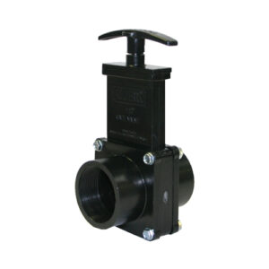 "1-1/2"" Valve FPT x FPT, w/ Plastic Paddle & Handle, ABS Black"