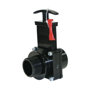 "1-1/2"" Valve  FIPT X MIPT, w/Gate Keeper, Plastic Paddle & Handle, ABS Black"