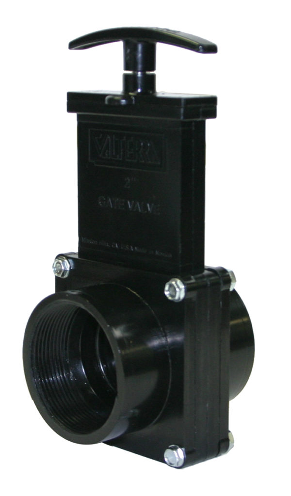 "2"" Valve FPT x FPT, w/ Plastic Paddle & Handle, ABS Black"