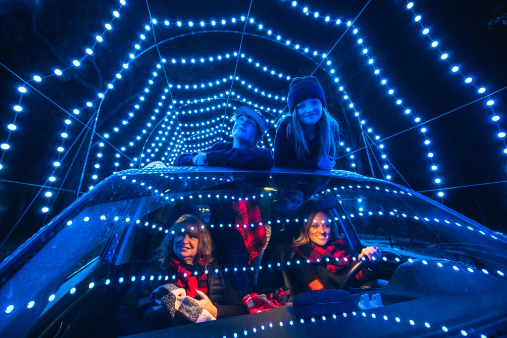 Winter Magic Swope Light tunnel moms