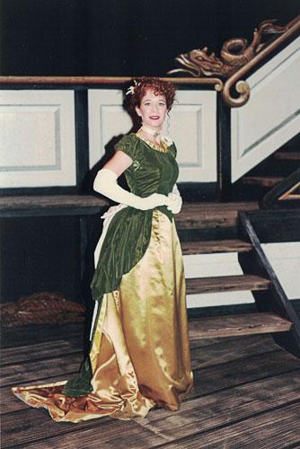 Kate Lloyd performing in the Gilbert & Sullivan choir
