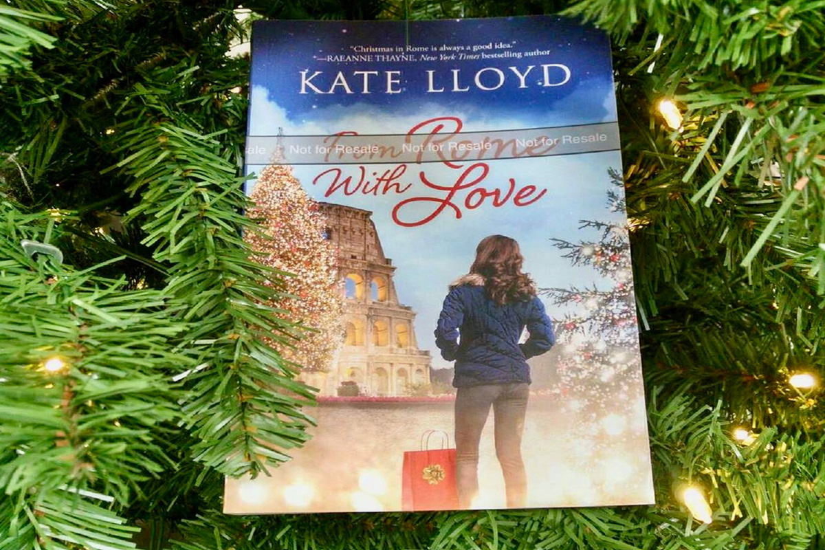 A pre-lease ARC of From Rome with Love visited a Christmas tree!